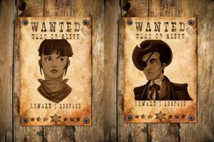 We Pose Like Wanted Posters by KillaSamuraiBabe