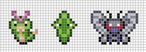 Mini: Caterpie, Metapod, Butterfree by Hama-Girl