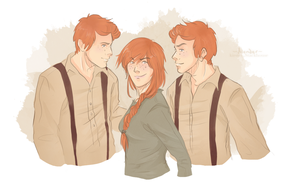 Fred, George + Ginny: Holiday Prank Planning by Avender