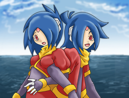 Ciel and Mer with Sky and Sea by YX-Yukizora