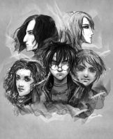Harry Potter characters by LeksaArt