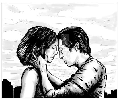Maggie and Glenn Comic Panel by SimonArtGuyBreeze