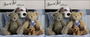 Bear in Bed with friends by zippy6234