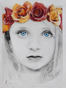 Girl With a Flower Crown by MissJantastic