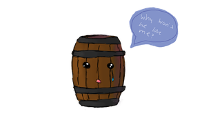 Poor Barrels! by Venomette