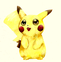 Pika-Painting by AmethystCreatures