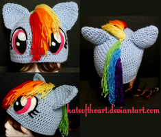 Rainbow Dash Hat by KateoftheArt
