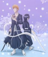 Commission - Ichigo and Rukia by sapphireluna