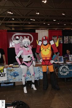 Arcee and Rodimus by The-Dude-L-Bug