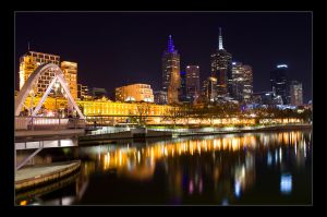 melbourne at night by danielh85