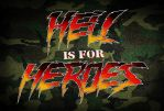 Hell is for Heroes - 80s action influenced logo by Bulletrider80s