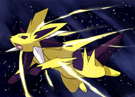 Mega Jolteon wallpaper by Phatmon