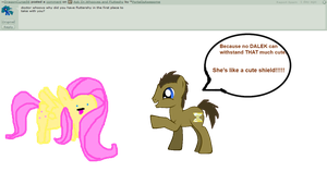 Ask Fluttershy and Dr.Whooves 5 by JustWestOfWeird