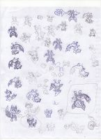 Sketches fakemon 2 by fer-gon