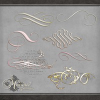 Ethreal Scroll Elements by DaydreamersDesigns