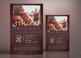 Sinless Silence Flyer Poster Template by Godserv