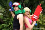 Cave Story: Quote and Curly. by Illuminating-Sky