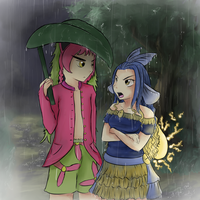 Arguing in a storm by Yufika