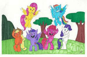 My Little Tree Friends by EmperorNortonII