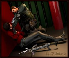 Chris Redfield catches Ada Wong! by kingofshadows26