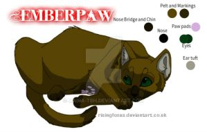 Emberpaw ~Warrior Cats OC~ by germansheperdgirl357