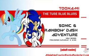 Sonic and Rainbow Dash Adventure Toonami Wallpaper by CreativeArtist-Kenta