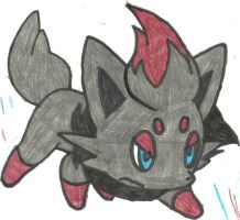Zorua Coloured by CoolMan666