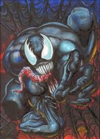 Venom Personal Sketch Card by AHochrein2010