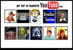 Top 10 Favorite YouTubers meme by Fallinginreverse1298