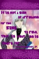 Ayame Sohma= The King by TeamVolturiLeader