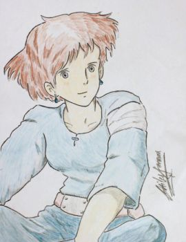 Nausicaa of the Valley of the Wind Colored by ghilesfreeman