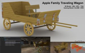Apple Family Traveling Wagon by VeryOldBrony