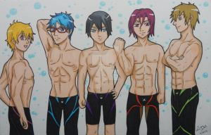 Free Iwatobi Swim Club by LadyNin-Chan