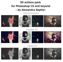 3D actions pack by AlexandraSophie