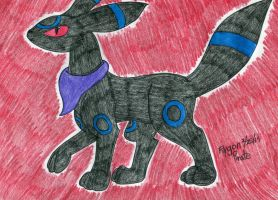 Pokemon- Shiny Umbreon by FlygonPirate