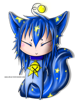 Small Chibi Cosmic Space Cat by Absur-D