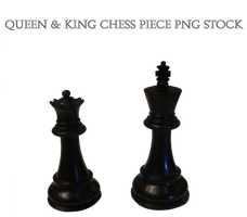 Queen & King Chess Piece PNG STOCK by KarahRobinson-Art
