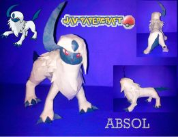 absol papercraft finished by javierini