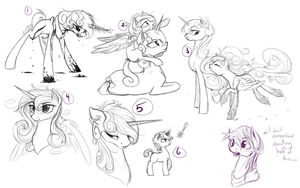 Sonata and Cadence Doodle Dump by JazzyBrony