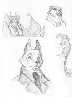 Boredom sketches by Edheloth