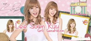 Sunny Lee SNSD Pink Banner by yoonaddict150202