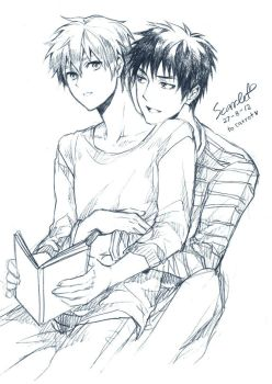 Kagami and Kuroko by scarlet-xx
