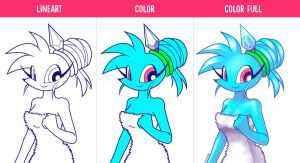 Spaicy Drawing process by LoulouVZ