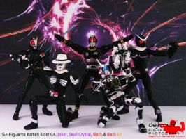 kamen sentai black riders by dejivrur