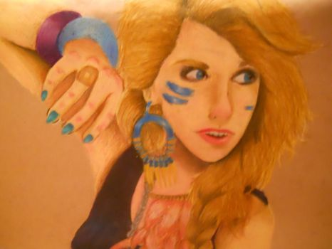 Ke$ha in Oil Pastel by Rire-Et-Bisoux