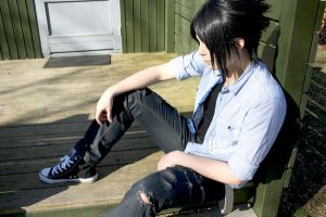 Sasuke relaxes. Otherwise you will just gay by ShadowFox-Cosplay