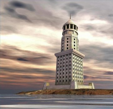 Pharos of Alexandria by Couchie