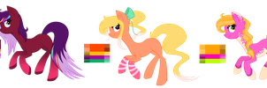 ~Adoptables~. [AUCTION] Colorful Ponies :CLOSED: by XantaL-XGB