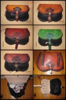 Historical 'cul-de-vilain' belt bag by akinra-workshop