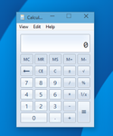 Old calculator for Windows 10 by hb860